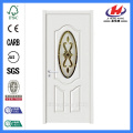 Jhk-003 3/4 Oval Double Scroll 2 Panel Reed Glass Refrigerator Glass Door