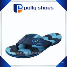 Sandálias Tanga Azul e Preta Flip Flop Tamanho 7 Médio