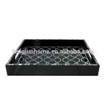 CBM-BPTY Black MOP Hotel Amenity Tray avec Paua Paper Black Paint