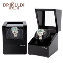 DRIKLUX Wooden Black Watch Winder Box Quiet Motor