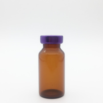 10ml Amber Sterile Seum Vials Purple Cap
