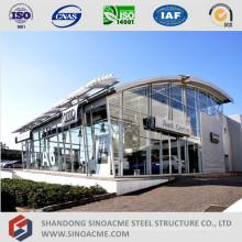 Loja de vendas de carro de estrutura de aço pré-fabricada