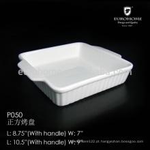 P050 Dirija o prato por atacado do mergulho da porcelana da fábrica, prato cerâmico dos tapas, prato do petisco, prato do mergulho, prato do bisque, bandeja do cozimento