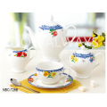 New Bone China Tea Set com design