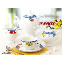 New Bone China Tea Set with design