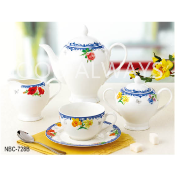 New Bone China Tea Set med design
