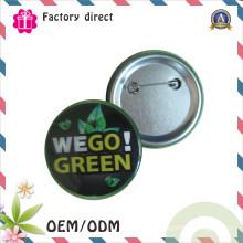 SGS RoHS высокое качество конкурентоспособной печати завода олова кнопка Mertal Pin Bagde