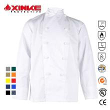 65% poliéster 35% algodão casaco de chef para restaurante