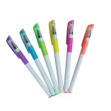 2014 neue weiße Barrel Textmarker Gel Ink Pen viele Farben