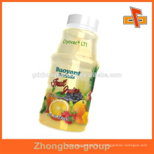 Chaud pour bouteilles d'emballage étiquette de bain de PVC thermorétractable pour jus de fruits