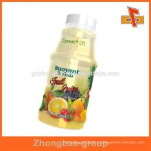 Quente para garrafas de embalagem de calor shrink PVC baverage etiqueta de suco de frutas