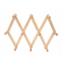 Foldable hot sale Garment home use beech wood wall mounted hat hangers