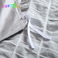Faixa de cetim atacado consolador conjuntos de cama de luxo conjunto lençol de hotel capa de edredão branco
