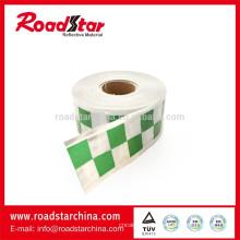 Prismático cinta reflexiva del PVC impresión con patrón checker, cinta reflexiva