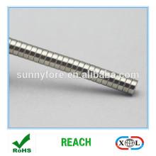 D8x2mm rond forme grade supérieur sh aimant
