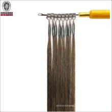 "Straight 20"" Brazilian 100% Human Virgin Remy Hair Extension Sing Strand Micro Ring Hair"