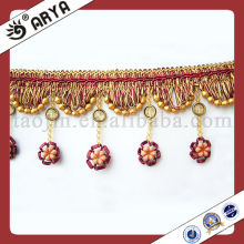Beautiful Flower Shape Tassel Fringe Trim with Good Design making the perfect embellishment for sofa,lamp