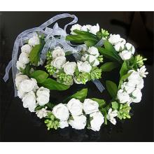 Großhandelspreis Kinder Haar Zubehör Blumen Design Kränze und Armbänder Haar Zubehör Set für Mädchen
