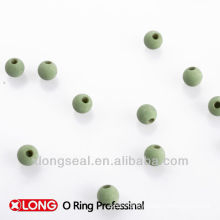 molded rubber ball for air valve