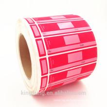 impresión en color dos partes etiqueta adhesiva imprimible