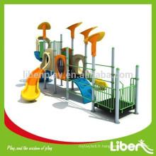 Liben Play Customized Design Outdoor Playground avec diapositives en plastique