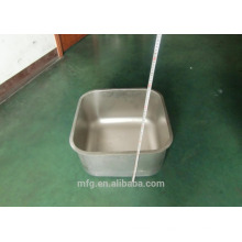 Alta calidad moderna de metal / acero inoxidable simple / doble punzonado agua lavamanos