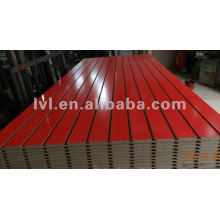 melamine faced slotted mdf board with alu bar