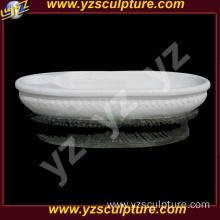 Home Decoration White Marble Round Stone Bathtub