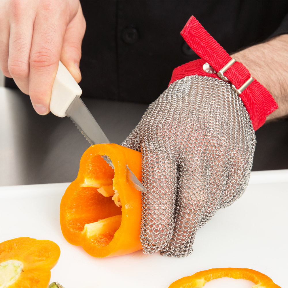 vegetable processing mesh glove