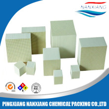 Cordierite honeycomb ceramic monolith for heat exchanger