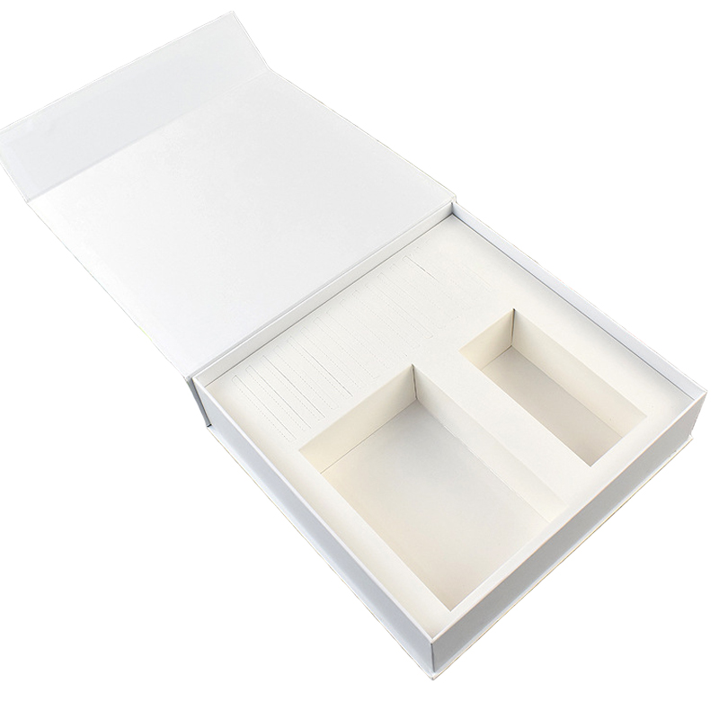 White Book Shape Rigid Gift Box