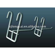 Heiße verkaufende einfache Entwurfswandmontierte hängende Funktionsausstellung Metalldraht-Anzeigenhaken