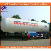 40m3 GPL Trailer de transporte de tanques 40000 GPL Trailer de gás para a Nigéria