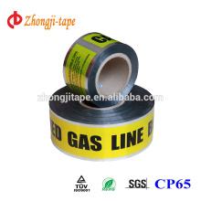 No contaminación 7,5 cm de ancho de cinta detectable subterráneo