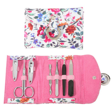 PU Leather Case Manicure Kit for Promotion
