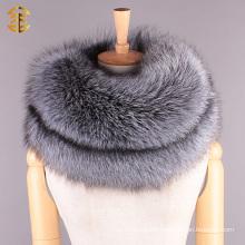 Women Luxury Winter Fox Fur Collar Coat Accesseries Neck Warmer Fox Fur Scarf