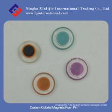 Pin de poussière magnétique coloré personnalisé