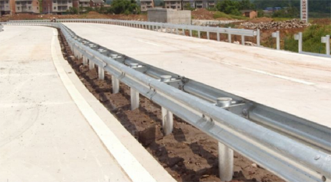 Highway guardrail drilling, piling and pile extracting