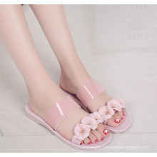 PVC Crystal /Jelly Shoes for Ladies with Exqusite Flowers