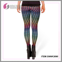 Sexy Fashion Lady Elastic Leggings Print Leggings Sublimation Print Leggings