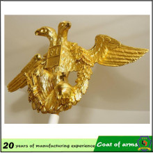 Gold Eagle Shape Metal Emblem