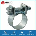 galvanised steel Mini type hose clamps with screws