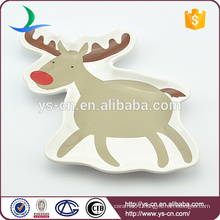Ceramic Deer Chrismas Plate For Family