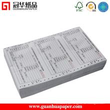 Papel contínuo de impressão de computador feito de papel sem carbono