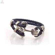 Bracelet en cuir de conception spéciale Anchor Fashion