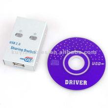 Interrupteur de partage USB à 2 ports haute qualité pour ordinateur portable