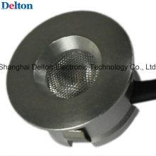0.5W серебряный цвет круглый мини светодиодный свет кабинета (DT-DGY-010B)
