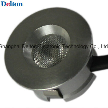 0.5W cor prata arredondado mini luz do armário do diodo emissor de luz (DT-DGY-010B)