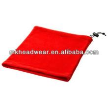 Красный дешевый флис с капюшоном шарф