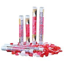 2018 Novo Artificial Rose Petal Casamento Cannon Confetti Shooter Party Popper para Venda